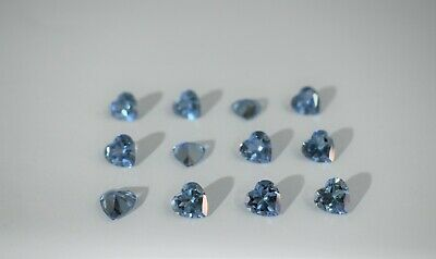 Aquamarine Heart Shape Stones SIZE CHOICE Loose Spinel Gemstones