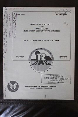 Original 1946 Aaf T-2 Technical Report-Japanese Frank Ki-84 High Speed Fighter