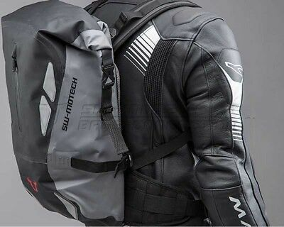 Backpack Triton Tarpaulin motorcycle, Waterproof. Anthracite / Black. 20 l.
