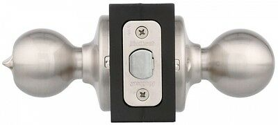 Bedroom Bathroom Door Knob Polo Satin Nickel Interior Privacy Lock Bath Latch