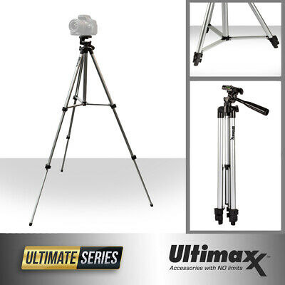 50 Inch Full Size Tripod with Leveler Adjust & Carrying Case for DSLR Cameras