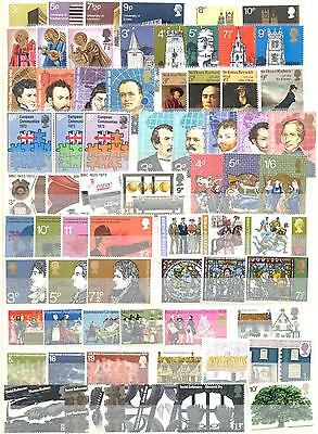 ENGLAND 1970-1980s COLLECTION OF 37 DIFFERENT MNH SETS STAMPS