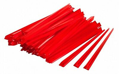 Red Contemporary Prism Cocktail Sticks Picks Pack Of 10,25,50,100,250, 500, 1000