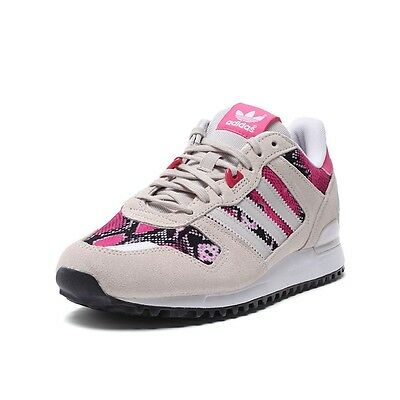 bf9dfe6805cdc adidas ZX 700 Womens Retro Sports Trainers Beige Pink Classic Shoes  Snakeskin