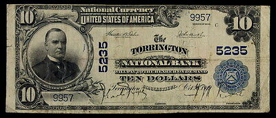 1902 $10 National Currency The Torrington National Bank Connecticut  Ch# 5235