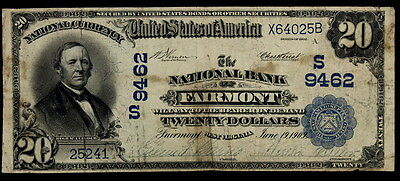 1902 $20 National Currency The National Bank Of Fairmont Wv.  Ch# 9462