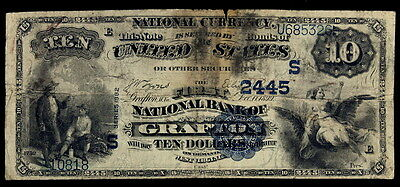 1882 Value Back $10 National Currency First Nb Of Grafton Wv.  Ch# 2445