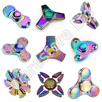 Fidget Spinner Colorful Metal Hand Spinner EDC Fingertip Gyro Anti Stress Toys