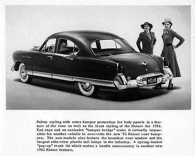 1952 Kaiser Frazer Manhattan Factory Photo ad8255