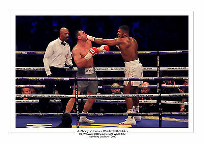 2017 Anthony Joshua Wladimir Klitschko A4 Photo Print A4 Boxing Wembley Boxing 2