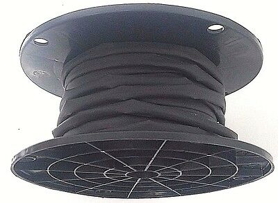 "100' Feet BLACK 3/16"" Polyolefin 2:1 Ratio Heat Shrink Tubing on a SPOOL"