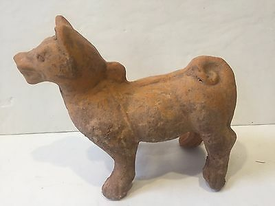 Chinese HAN DYNASTY terracotta Dog Figure statue