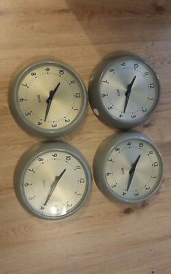 vintage gents of leicester wall clock × 4