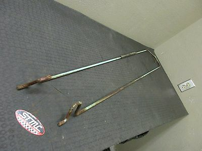 58 Chevy Del Ray Biscayne Bel Air Trunk Hinge Tension Rods Torsion Bars