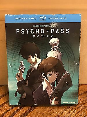 NEW SEALED! Psycho-Pass: Season One (Blu-ray/DVD, 2016, 8-Disc Set)