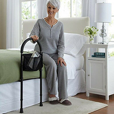 Bed Support Rail Adjustable Mobility Handle Grab Safety Portable Easy Grip Bar