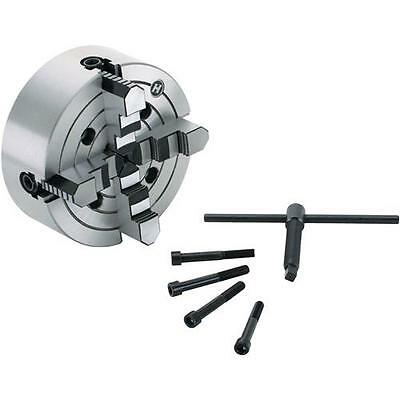 """G9866 Grizzly 8"""" 4-Jaw Plain Back Independent Chuck"""