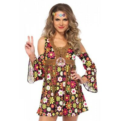 Hippie Costume Adult Halloween Fancy Dress