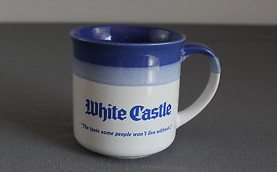 "White Castle Logo VTG 10oz Stoneware Coffee Mug ""Hamburger Specialists"" Vintage"
