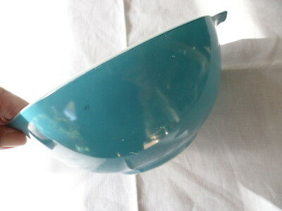 Vintage Retro Blue Glass Pyrex Mixing Serving Bowl
