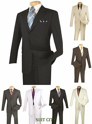 Men's Suit Single Breasted 2 Buttons 2 Piece Solid Colors 2PP Classic Fit