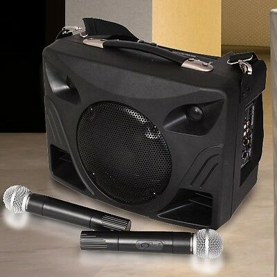 Party Bluetooth MP3 USB SD PA System Box Speaker Carrying Strap 500 Watt Battery
