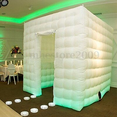 2.5M Inflatable LED Air Photo Booth Tent  Wedding Birthday Event Party 110V