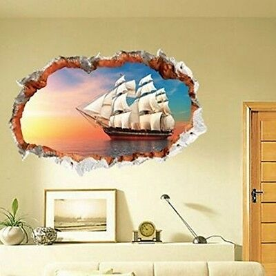 Removable Pirate Ship Wall Decal Extra Large Hole In The Wall Pirate Ship