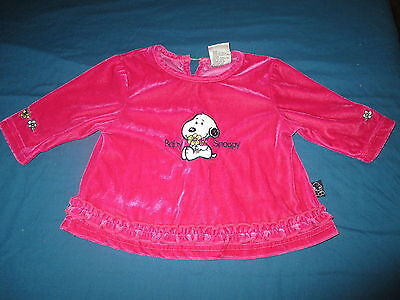 Baby Snoopy Girls Size 0 Jumper, Hot Pink Velvet Ruffles Jacket