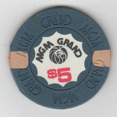 Obsolete Rare MGM Grand Las Vegas $5 chip - Prototype