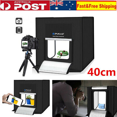 "16"" 40CM LED Light Room Photo Studio Photography Lighting Tent Kit Mini Cube Box"