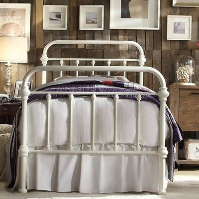 TWIN Antique White Victorian Iron Metal Beds Bed Frame Frames Bedroom Furniture