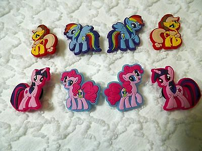 C 268 US Seller New My Little Pony Set Plug Shoe Charms Lot Of 8