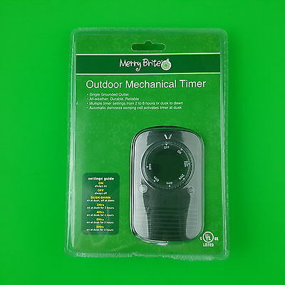 Merry Brite Outdoor Mechanical Timer 2 to 8 hours