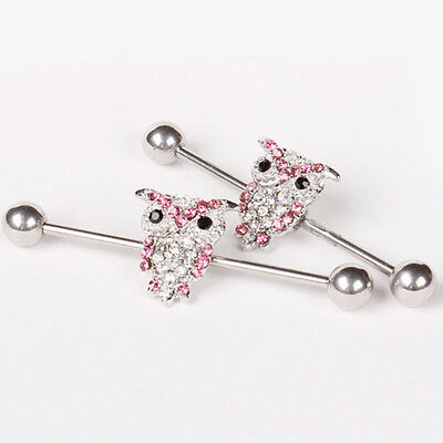 Barbell Surgical Steel Industrial Bar Scaffold Ear Barbell Ring PIERCING JEWELRY