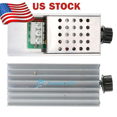 10000W AC 220V SCR Speed Controller Motor Electronic Voltage Regulator US STOCK