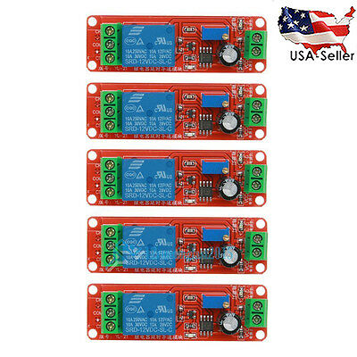 5pcs DC 12V Delay Relay Shield NE555 Timer Switch Adjustable Module US STOCK