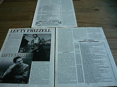 Lefty Frizzell - Magazine Cuttings (Article)