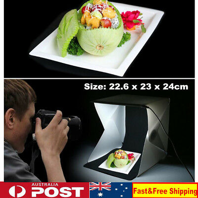 Portable Light Room Photo Backdrop Box with LED Light Mini Cube Studio Tent Kit