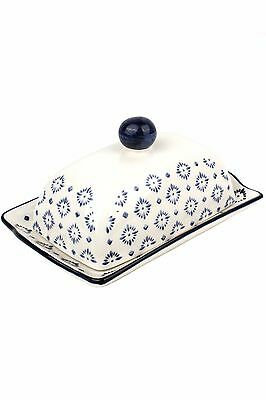 Ceramic Covered Butter Dish, Classic Vintage Style Butter Dish