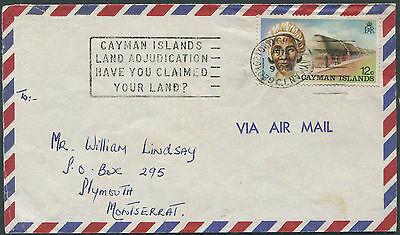 Cayman Islands 1974 cover with HAVE YOU CLAIMED YOUR LAND? Slogan