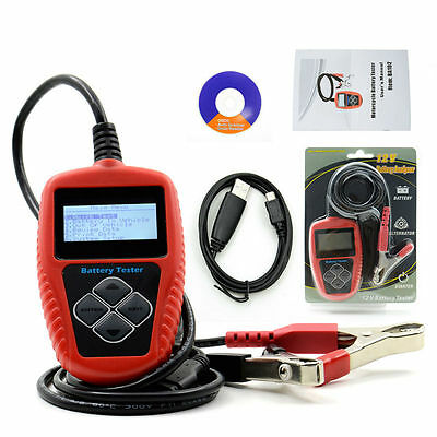 QUICKLYNKS BA102 Motorcycle Battery Tester LCD Display 12V Battery Life Analysis