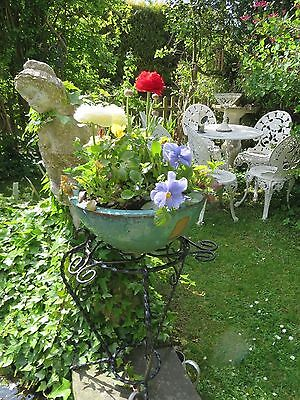 Charming Vintage French Scrolled & Curled Plant Stand / Table ~ Country Home