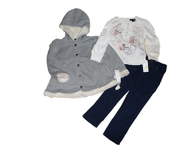 NEW CALVIN KLEIN 3PC GIRLS OUTFIT SET 6-7 YEARS Jacket , Top & leggings  AUTH