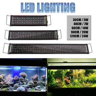 Aquarium LED Lighting 1ft/2ft/3ft/4ft/5ft 30-150cm Aqua Plant Fish Tank Light AU