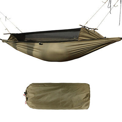 2 Person Outdoor Camping Hiking Tent Hanging Sleep Hammock Bed & Mosquito Net  Y