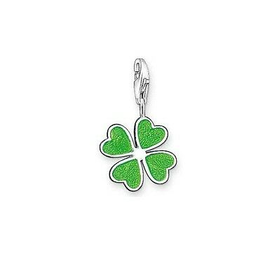 New Sterling Silver Thomas Sabo Green 4 leaf Clover charm 0677-007-6 £29.95