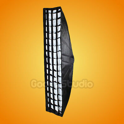 "[US] Godox Strip Beehive Softbox 35x160cm 14""x63"" w/ Honeycomb Grid Bowens Mount"