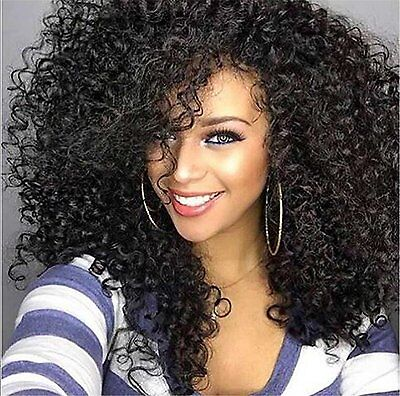 Cool 2 Day Afro Kinky Wig Cheap Synthetic Long Kinky Curly Wigs For Black Women