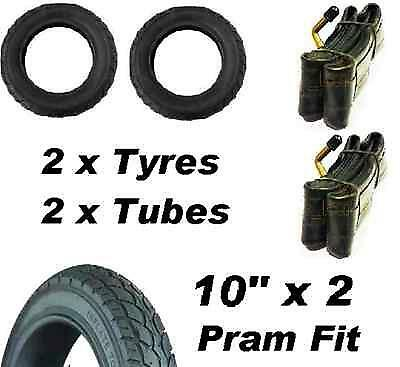 "2 x Pram Tyres & 2 x Tubes 10"" x 2 stroller, Mountain Buggy Duet swift  10"""